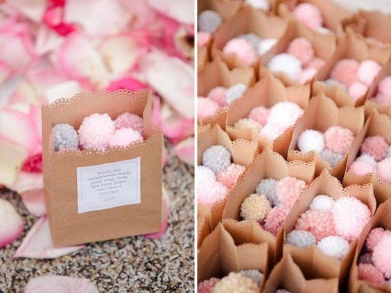 pompones para boda