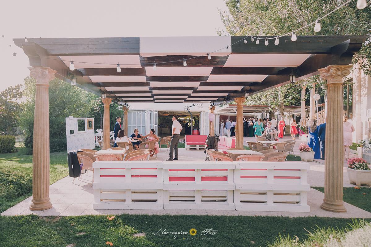 decoración barra libre boda