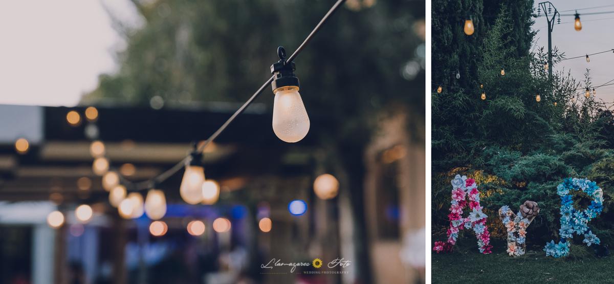 luces de coctel para boda