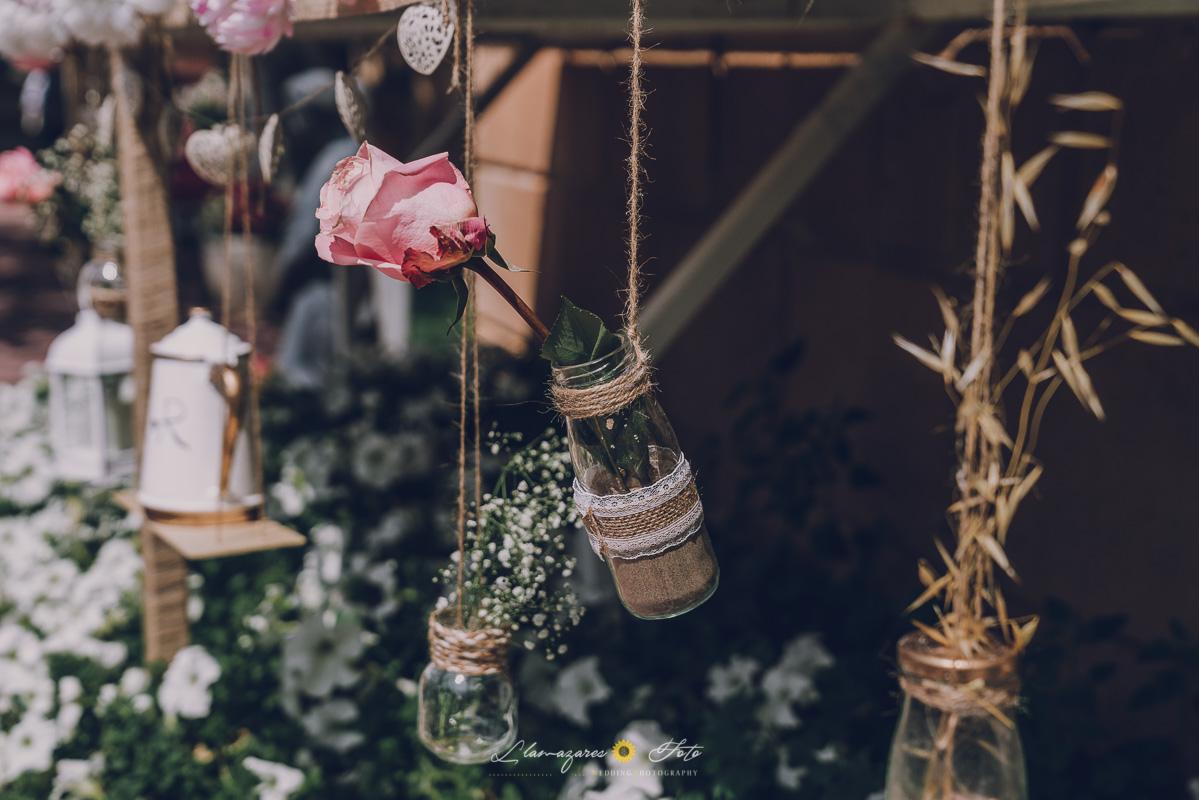 decoración de ceremonia al aire libre