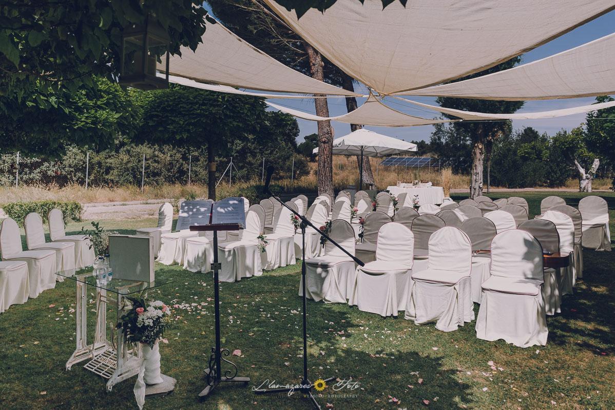 carpa para ceremonia civil al aire libre Aranda de Duero