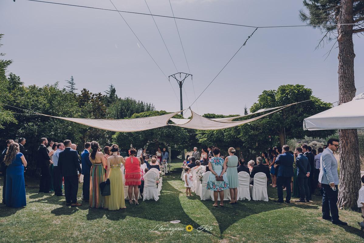 vista general de una ceremonia civil en el restaurante montermoso de Aranda de Duero