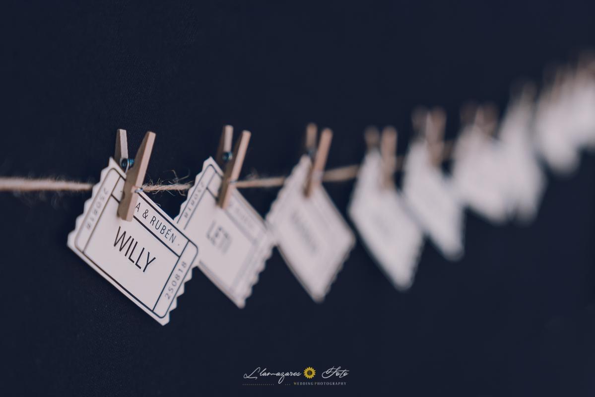 entradas de cine para decoración de boda