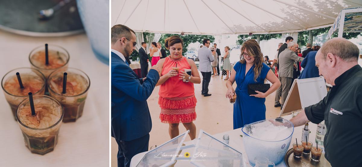 fiesta durante una boda