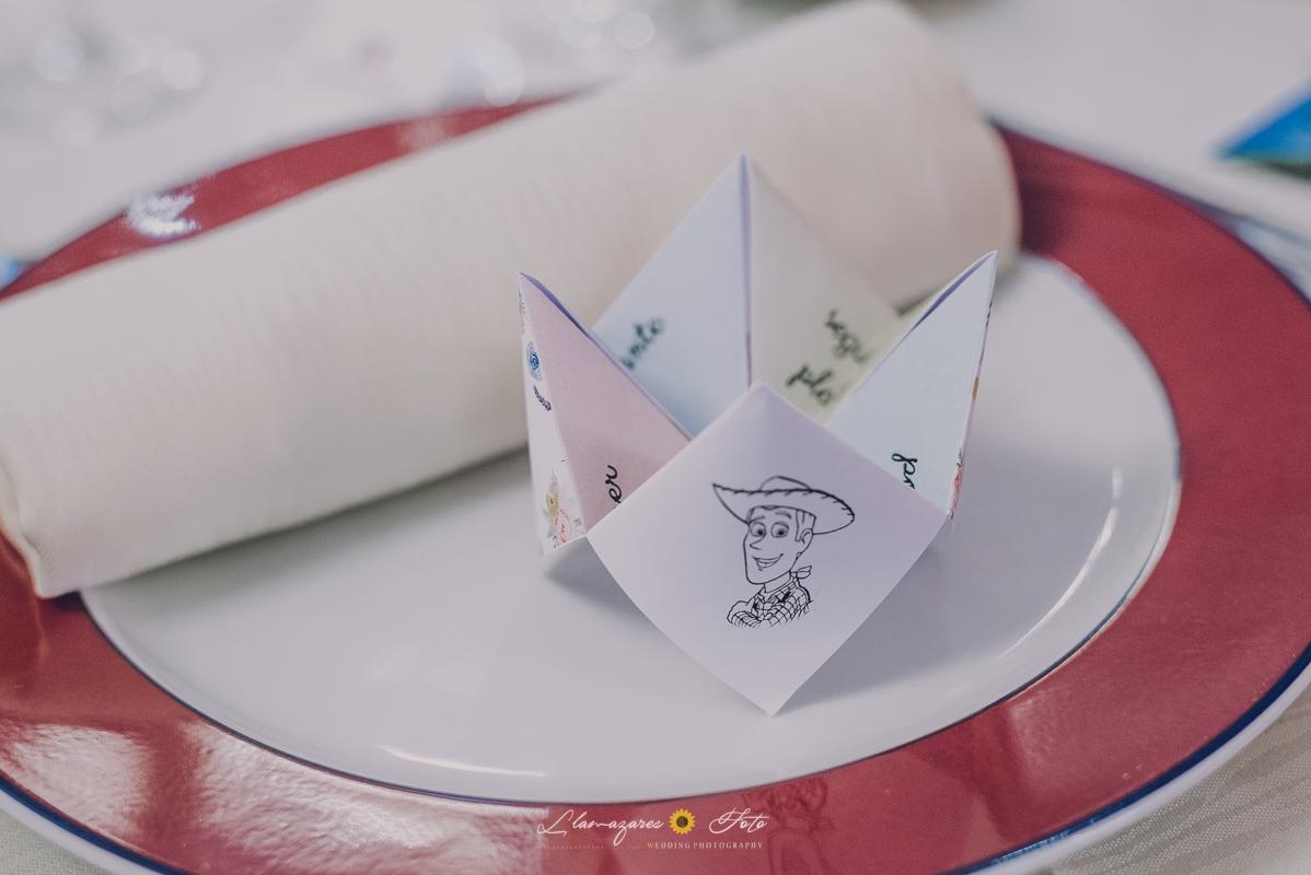 detalles en el comedor boda
