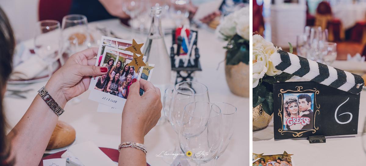 detalles de cine en una boda temática