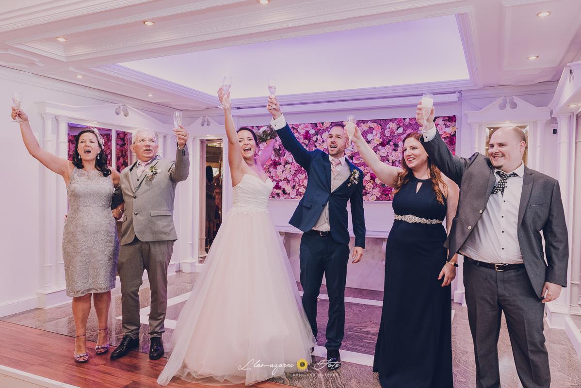 brindis en la boda